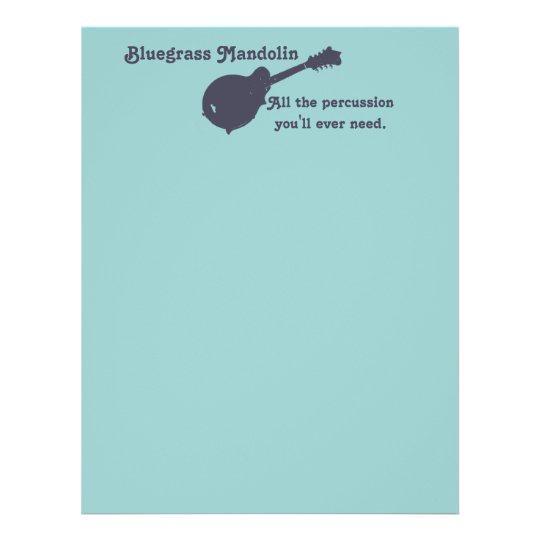 Bluegrass Mandolin - All the Percussion You Need Flyer