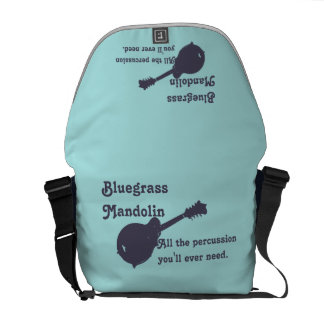 Bluegrass Mandolin - All the Percussion You Need Messenger Bag