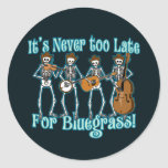 Bluegrass más allá etiquetas redondas