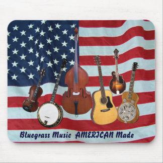 BLUEGRASS MUSIC  AMERICAN MADE-MOUSEPAD