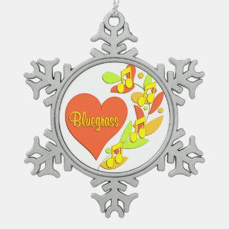 Bluegrass Music Heart Ornaments