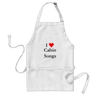 Bluegrass Music: I (heart) Cabin Songs Adult Apron