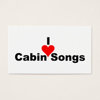 Bluegrass Music: I (heart) Cabin Songs Business Card