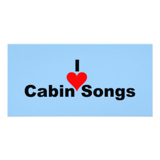 Bluegrass Music: I (heart) Cabin Songs Card