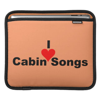 Bluegrass Music - I Heart Cabin Songs iPad Sleeve