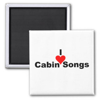 Bluegrass Music: I (heart) Cabin Songs Magnet