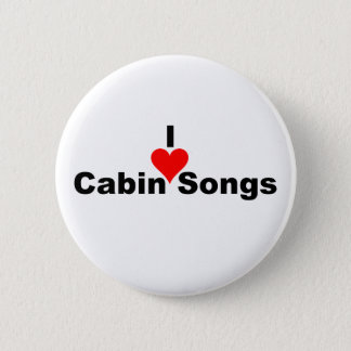 Bluegrass Music: I (heart) Cabin Songs Pinback Button