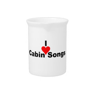 Bluegrass Music - I Heart Cabin Songs Beverage Pitchers