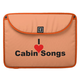 Bluegrass Music - I Heart Cabin Songs Sleeve For MacBook Pro