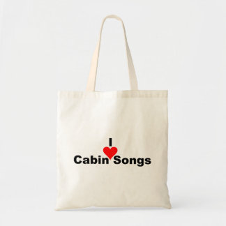 Bluegrass Music: I (heart) Cabin Songs Tote Bag