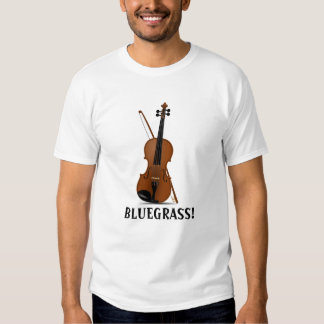 BLUEGRASS Music Violin Fiddle and Bow T-Shirt