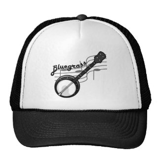 Bluegrass music with banjo trucker hat