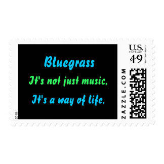 Bluegrass: No apenas música, una manera de vida Sello Postal