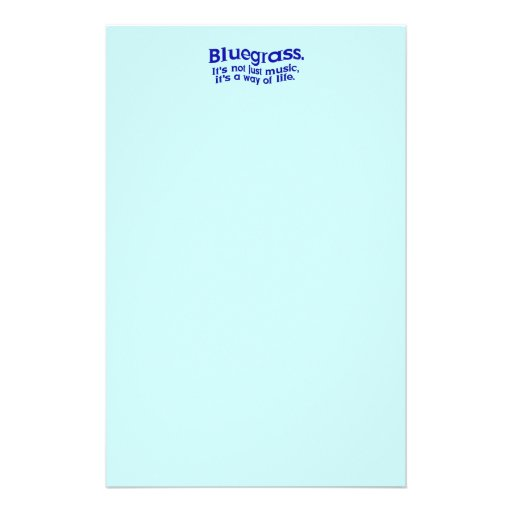 Bluegrass: Not Just Music, a Way of Life Customized Stationery