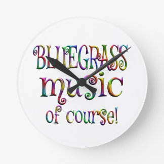 Bluegrass of Course Round Clock