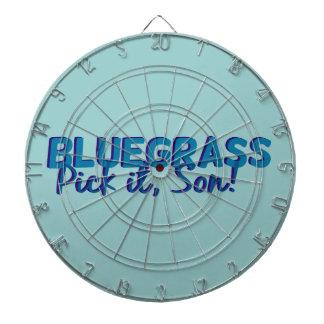 Bluegrass. Pick it Son! Dart Board