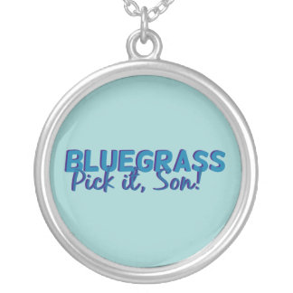 Bluegrass: Pick it, Son! Silver Plated Necklace
