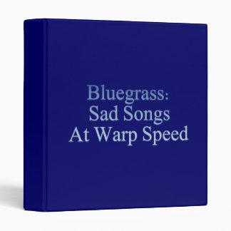 Bluegrass: Sad Songs At Warp Speed Vinyl Binders