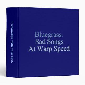Bluegrass: Sad Songs At Warp Speed 3 Ring Binder