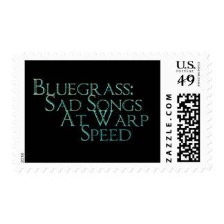 Bluegrass: Sad Songs At Warp Speed Postage Stamp