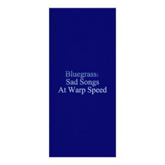 Bluegrass: Sad Songs At Warp Speed Rack Card