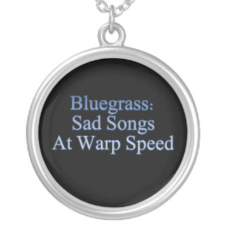 Bluegrass: Sad Songs At Warp Speed Silver Plated Necklace