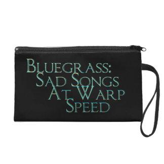 Bluegrass: Sad Songs at Warp Speed Wristlet Purse