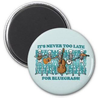 Bluegrass Skeletons 2 Inch Round Magnet