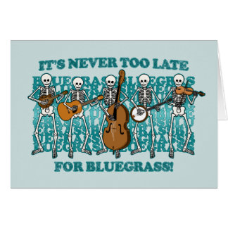 Bluegrass Skeletons Card