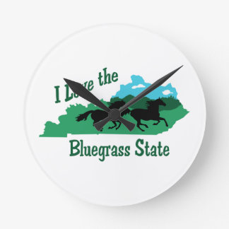 Bluegrass State Round Clock