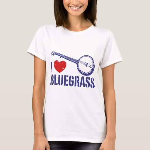 I Love Bluegrass Heart T-Shirt