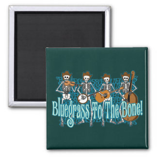 Bluegrass To The Bone! 2 Inch Square Magnet