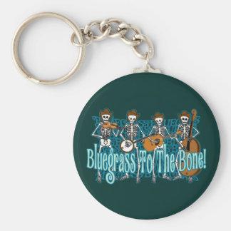 Bluegrass To The Bone! Basic Round Button Keychain