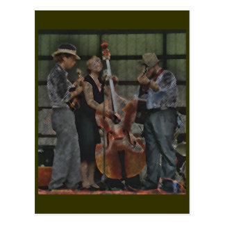 Bluegrass Trio Postcard