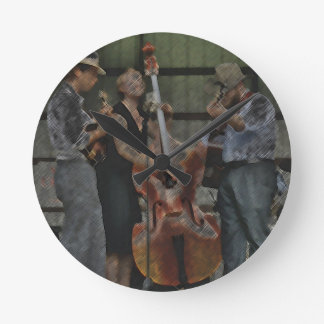 Bluegrass Trio Wall Clock