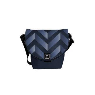 Bluegray Chevron Handbag Messenger Bags