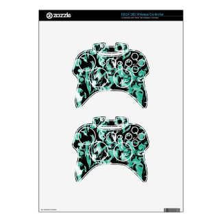 Bluegreen, Black and White mix -SK- Xbox 360 Controller Skins