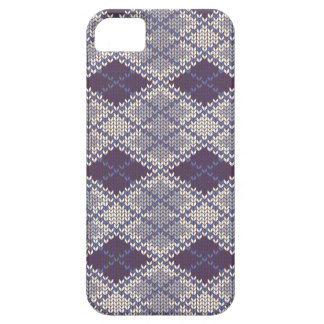 BlueGrey Argyle Knit iPhone 5/5S Case