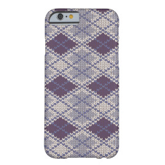 BlueGrey Argyle Knit iPhone 6 Case