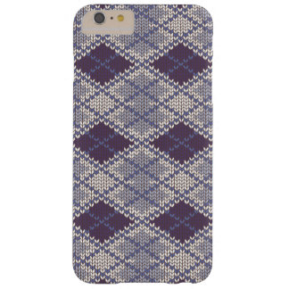 BlueGrey Argyle Knit iPhone 6 Plus Case