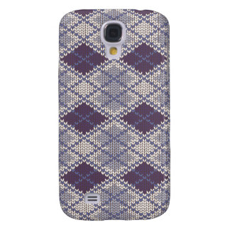 BlueGrey Argyle Knit Samsung Galaxy 4 Case