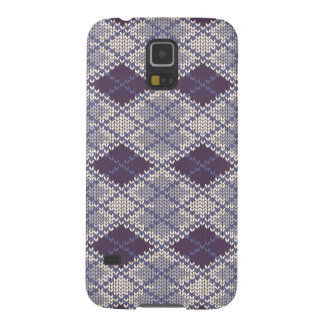 BlueGrey Argyle Knit Samsung Galaxy S5 Case
