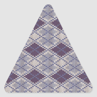 BlueGrey Argyle Knit Triangle Stickers