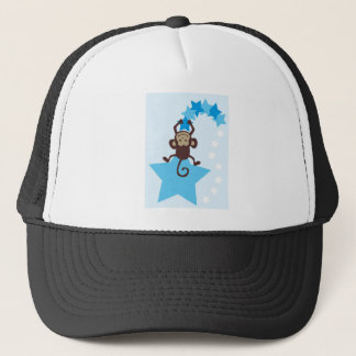 BlueHangoutJ4 Trucker Hat