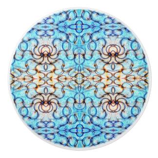 Blueheart Mosaic Ceramic Knob