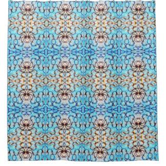 Blueheart Mosaic Shower Curtain