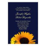 BlueII Sunflower Wedding Invitation