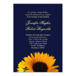 BlueII Sunflower Wedding Invitation