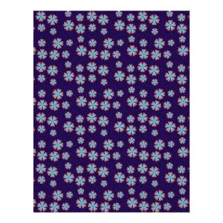 Blueish floral pattern full color flyer