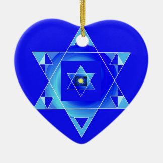 Blueish illusion. ceramic ornament